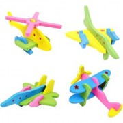 New Fancy DIY 22 Pcs 3D Wooden Plane Combination Blocks Educational Toy for Kids