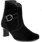 JK Port Women's Black Synthetic Leather Boot