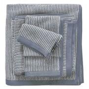 Marc O'Polo Timeless Tone Stripe Smoke Blue & Off White-Handdoek (50 x 100 cm)