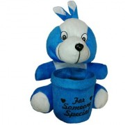 StarOne Collections Soft Toys With Pen Stand Holder- 18cm (Blue)