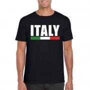 Bellatio Decorations Zwart Italie supporter shirt heren