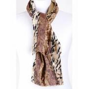 Shawl met luipaardmotief op fluweel
