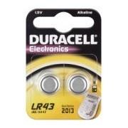 Duracell LR43 Knopfzelle Alkali Mangan - 2Stk Blister - AG12, L