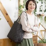 PLY リーフキルティング シンプルトートバッグ【QVC】40代・50代レディースファッション