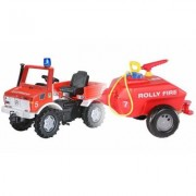 Unimog RollyFire vigili del fuoco + Botte RollyFire Rolly Toys
