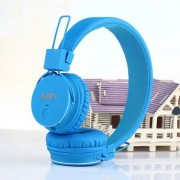 Casti Wireless Bluetooth Cu Microfon iPhone Samsung Huawei Cu Slot Card Micro SD Albastre