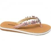 Graceland Roze slipper bloemen Graceland maat 35