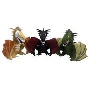 Factory Entertainment - Game Of Thrones - Dragon Plush Box Set 2017 San Diego Comic-Con Convention Exclusive - Set of 3 Plush Dragons