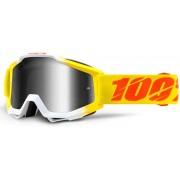 100% Accuri Extra Gafas de Motocross Blanco Amarillo un tamaño