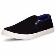 Ethics Mens Pilot Blue Black Casual Loafer Shoes