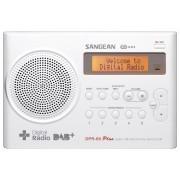 DPR-69 Hordozható rádió DAB+ FM 2 soros LCD kijelző fehér