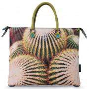 Gabs Borsa Donna a Mano con Tracolla G3 Plus Trasformabile Studio Print Cactus Large