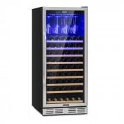 Klarstein Vinovilla 127, голям охладител за вино, 331 литра, 127 бутилки, стъклени врати, неръждаема стомана (HEA7-Vinovilla127)