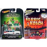 George Barris Munsters Koach Family Car 2017 TV Show Hobby Exclusive Model & Hot Wheels Real Ghostbusters Retro Entertainment Ecto-1 Ambulance Creepy Set Limited Edition 2-Pack Johnny Lightning