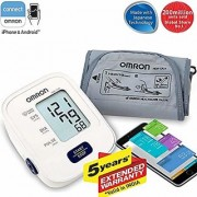 Omron blood pressure monitor with five year brand warranty