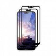 Set 2 folii protectie sticla securizata fullsize pentru Nokia 6.1 Plus / X6 negru