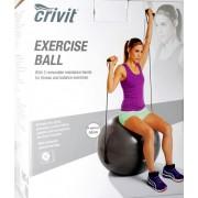 Minge pentru fitness si aerobic cu corzi elastice - 65 cm diametru -