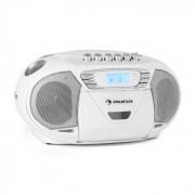 KrissKross Cassete USB MP3 CD FM portátil Branco