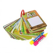 TOYMYTOY Water Painting Graffiti Book Card 26 Letters Cards Kids Early Education Cognitive Cards with Drawing Pens