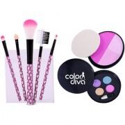 Adbeni Customized Combo 5 Makeup Brush 4 Color Eyeshadow 3 Color Blush