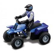 Maisto Racing (Blue Two-Toned) * Off-Road Series Motorized ATV * 2010 Maisto ATVs Fresh Metal Pull-B
