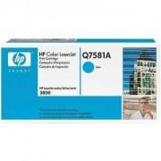 Тонер касета за Hewlett Packard Color LaserJet 3800 Cyan (Q7581A)