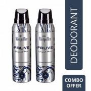 Mistpoffer Fauve Perfumed Deodorant Body Spray Combo Offer Pack of 2 for Men (150 ml Each)