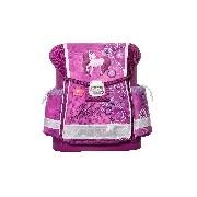 Merev falú iskolatáska - Classy Molly - pink lovacskás