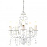 PremiumXL - [lux.pro] Elegantan luster – stropna svjetiljka s 5 grana – 5 x E14 - bijelo starinsko