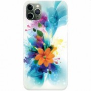 Husa silicon pentru Apple iPhone 11 Pro Flower 011