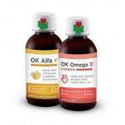 OK Alfa+ 115 ml. OK Omega-3 Complete 120 ml. ( sada pro srdce, cévy, žíly, na cholesterol, pleť )