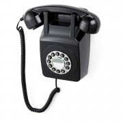 GPO Retro 746 Push Button Wall Telephone - Black