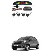 KunjZone Car Reverse Parking Sensor Black With LED Display Parking Sensor For Nissan Micra Active