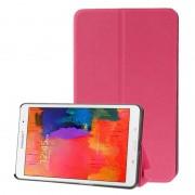 Samsung Frosted structuur Flip lederen hoesje met houder voor Samsung Galaxy Tab Pro 8.4 / T320 (hard roze)