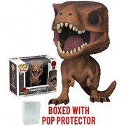 Funko Pop! Movies: Jurassic Park - Tyrannosaurus Rex Vinyl Figure (Bundled with Pop Box Protector Case)