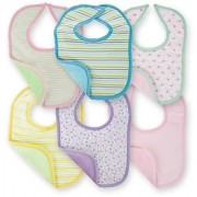 Tahiro MultiColour Cotton Printed Bibs For Kids - Pack Of 6