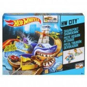 Pista masinute Hot Wheels SharkPort etajata rechin