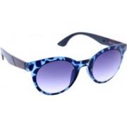 Gansta Oval Sunglasses(Blue, Blue)