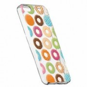 Husa Silicon Transparent Slim Donut Apple iPhone 5 5S SE
