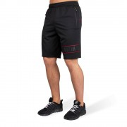 Gorilla Wear Branson Shorts - Zwart/Rood - 2XL