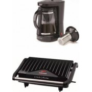 Pachet Mic Dejun Filtru de cafea-ceai Albatros Dolce 2 in 1 680W 1.2L Negru + Gratar electric Albatros GT-750 750W Negru