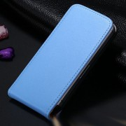 Blue Leather Vertical Flip Case For Apple iPhone 5 / 5S / SE