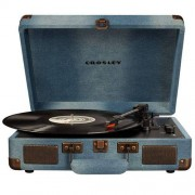 Crosley Tocadiscos Bluetooth Cruiser Deluxe Turnable Denim