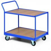 B2B Partner Policový vozík, 2 police v ocelovém rámu, nosnost 300 kg