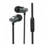 Astrum EB410 univerzális 3,5mm szürke fémházas sztereó headset zajszűrős mikrofonnal, prémium hangzással, slim kábellel