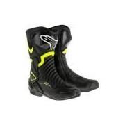 Bota Racing Alpinestars SMX 6 V2 - Preto e Amarelo