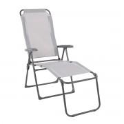 Lounger Home Garden VENTURA 939061 Sitz und Rückenlehne aus grauem Aluminiumgewebe