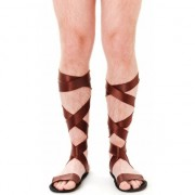 Geen Griekse bruine sandalen voor volwassenen