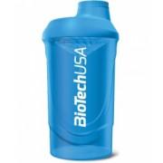 BioTech USA Šejker Wave modrý 600 ml