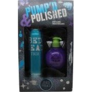 Tigi Bed Head Pumped & Polished Gift Set 340ml Hair Spray + 200ml Heat Protectant